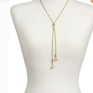 Lucky Brand Imitation Mother-of-Pearl Stone Lariat